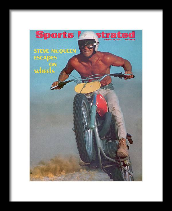 Magazine Cover Framed Print featuring the photograph Steve Mcqueen, Motocross Sports Illustrated Cover by Sports Illustrated