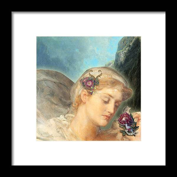 Angels Framed Print featuring the digital art Still Small Voice by Laura Botsford