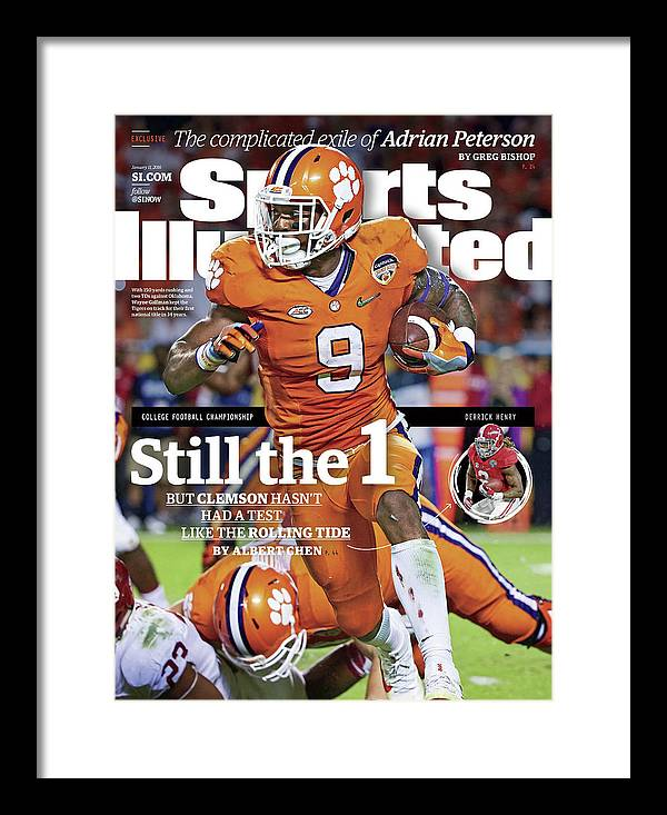 Miami Gardens Framed Print featuring the photograph Still The 1, But Clemson Hasnt Had A Test Like The Rolling Sports Illustrated Cover by Sports Illustrated