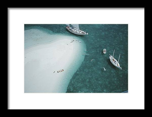 People Framed Print featuring the photograph Stocking Island, Bahamas by Slim Aarons