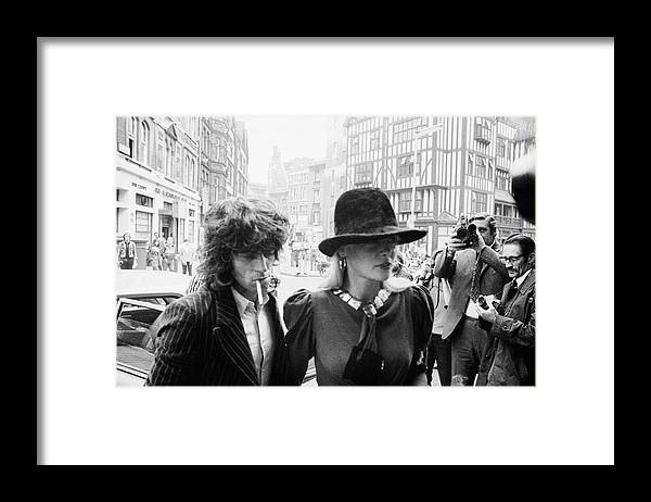 Rock Music Framed Print featuring the photograph Stone On Drug Charges by Frank Barratt