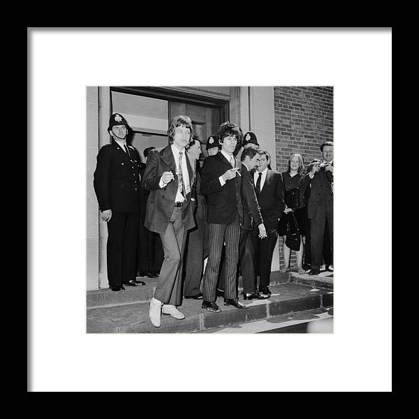 Rock Music Framed Print featuring the photograph Stones In Court by Ted West