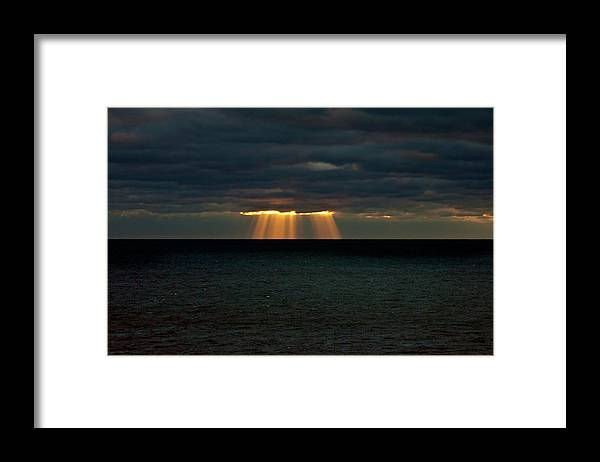 Lake Michigan Framed Print featuring the photograph Storm Brewing by By Ken Ilio
