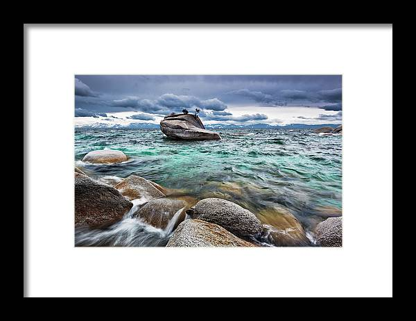 Outdoors Framed Print featuring the photograph Storm, Lake Tahoe by Ropelato Photography; Earthscapes