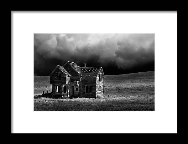Grass Framed Print featuring the photograph Stormy Weather by Davealan