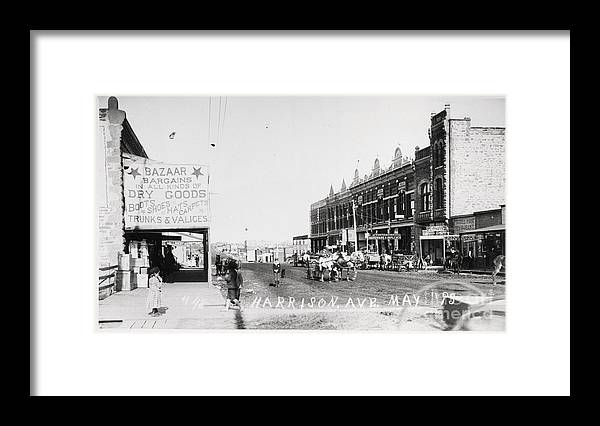 East Framed Print featuring the photograph Street In Small Western Town by Bettmann