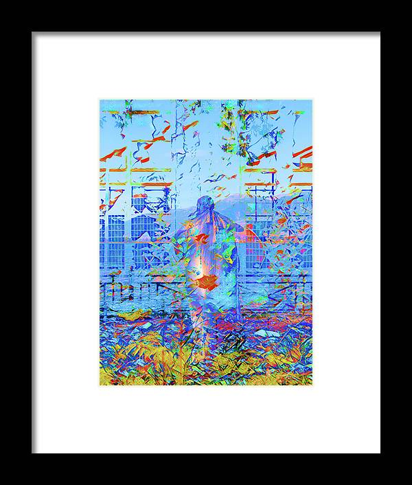 Abstract Framed Print featuring the digital art Street Performer by Nicholas V K