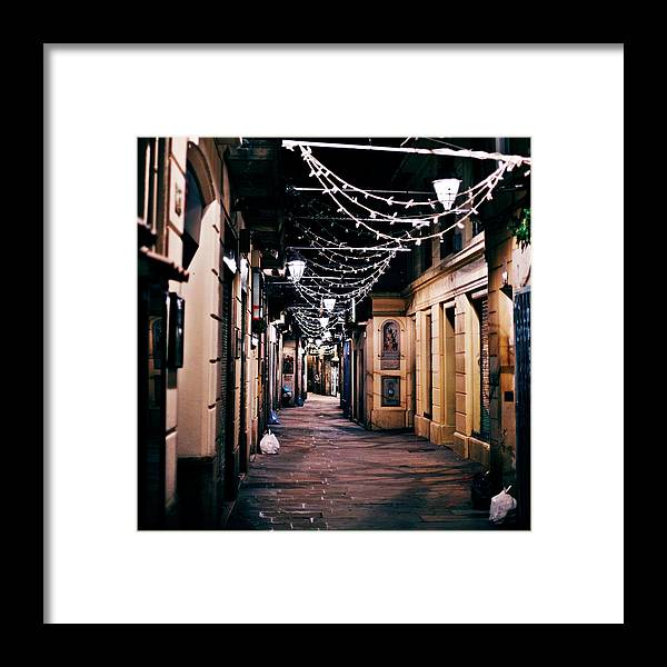 Catalonia Framed Print featuring the photograph Streets Of Old Town by Peeterv