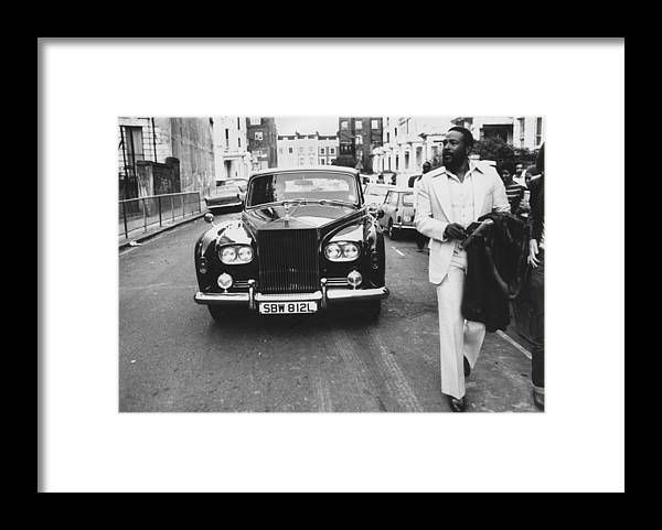 Rolls Royce Framed Print featuring the photograph Strolling Soul Singer by John Minihan