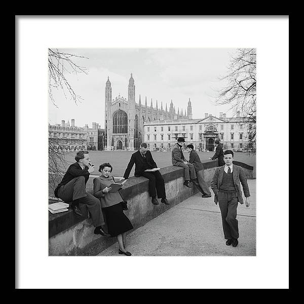 Education Framed Print featuring the photograph Students At Cambridge by Slim Aarons