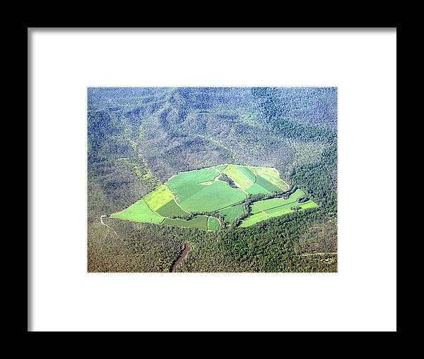 Cairns Framed Print featuring the photograph Sugar Canefields Carved Out Of Forest by Photography By Mangiwau