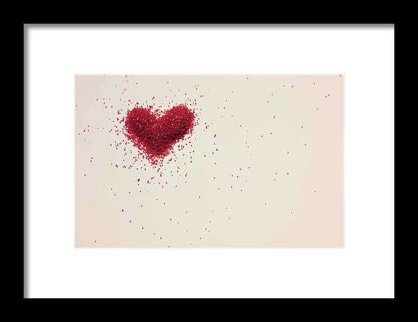 Art Framed Print featuring the photograph Sugar Heart by Amy Weekley