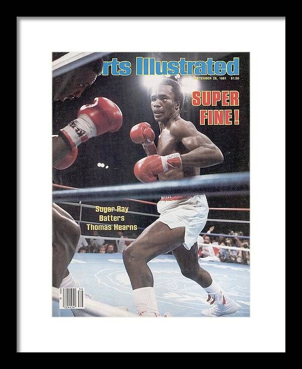 1980-1989 Framed Print featuring the photograph Sugar Ray Leonard, 1981 Wbcwba Welterweight Title Sports Illustrated Cover by Sports Illustrated