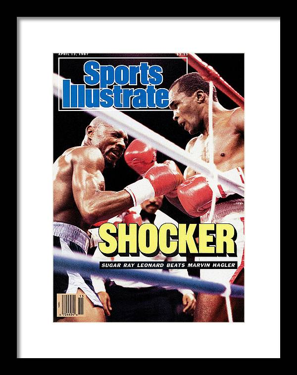 Magazine Cover Framed Print featuring the photograph Sugar Ray Leonard, 1987 Wbc Middleweight Title Sports Illustrated Cover by Sports Illustrated