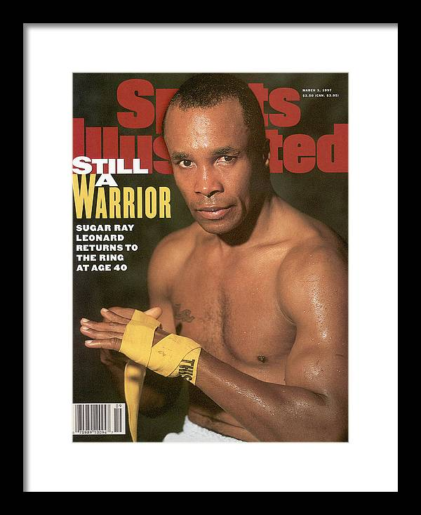 Event Framed Print featuring the photograph Sugar Ray Leonard, Middleweight Boxing Sports Illustrated Cover by Sports Illustrated