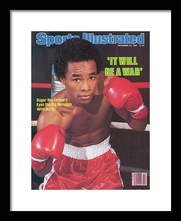 Magazine Cover Framed Print featuring the photograph Sugar Ray Leonard, Welterweight Boxing Sports Illustrated Cover by Sports Illustrated
