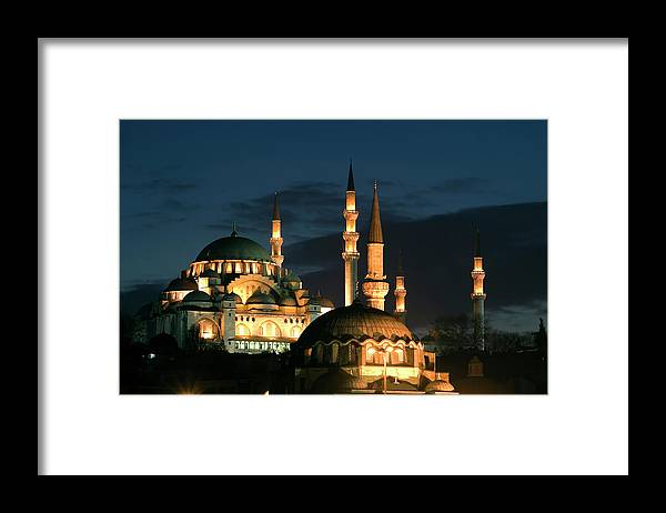 Istanbul Framed Print featuring the photograph Suleymaniye Mosque Istanbul by Lebazele