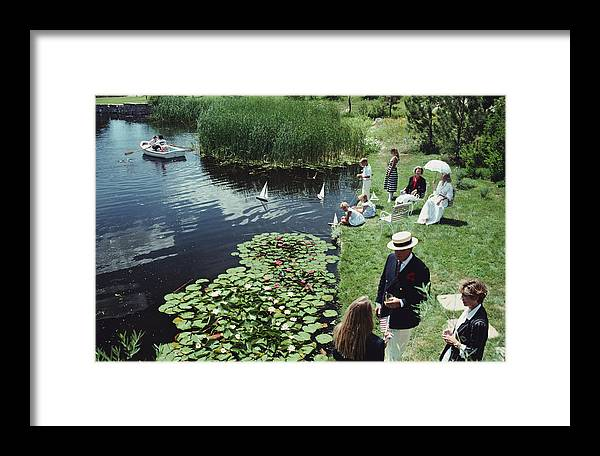 Straw Hat Framed Print featuring the photograph Summer Picnic by Slim Aarons