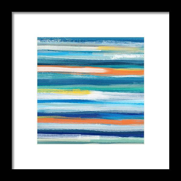 Beach Framed Print featuring the painting Summer Surf 3- Art by Linda Woods by Linda Woods