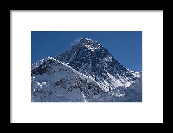 Scenics Framed Print featuring the photograph Summit Of Mt Everest8850m Great Details by Diamirstudio