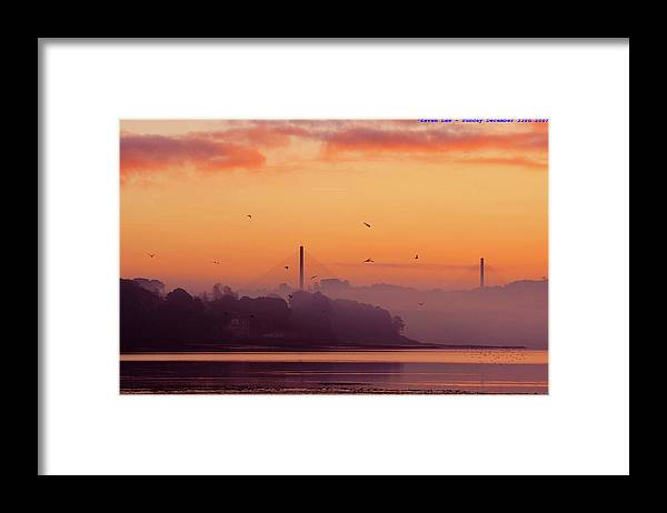 Scenics Framed Print featuring the photograph Sunrise by All Images Taken By Keven Law Of London, England.
