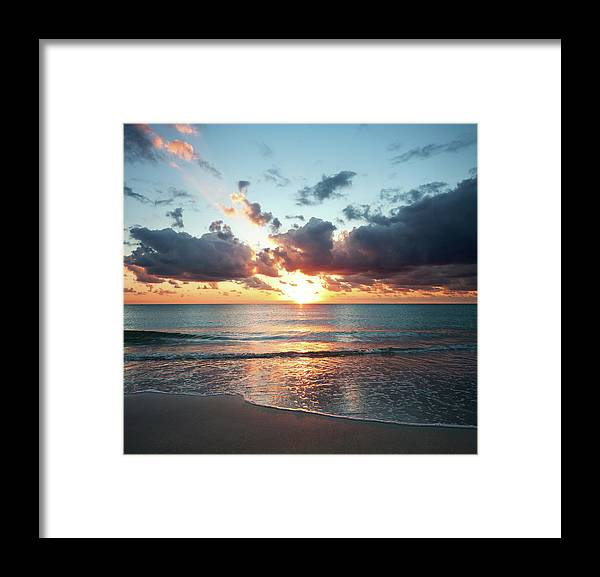 Scenics Framed Print featuring the photograph Sunrise In Miami by Tovfla
