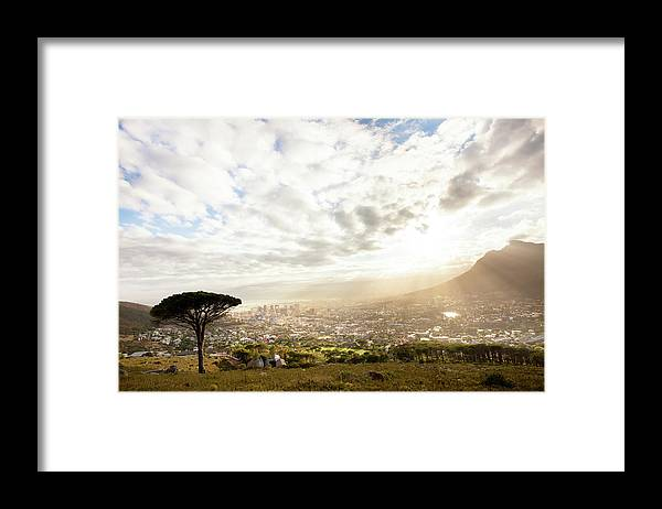 Scenics Framed Print featuring the photograph Sunrise Over Cape Town South Africa by Epicurean