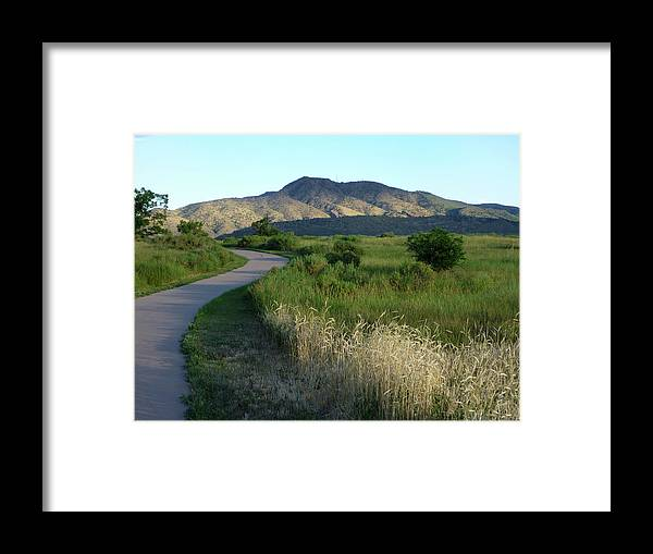 Outdoors Framed Print featuring the photograph Sunrise Over State Park Grasslands And by Milehightraveler
