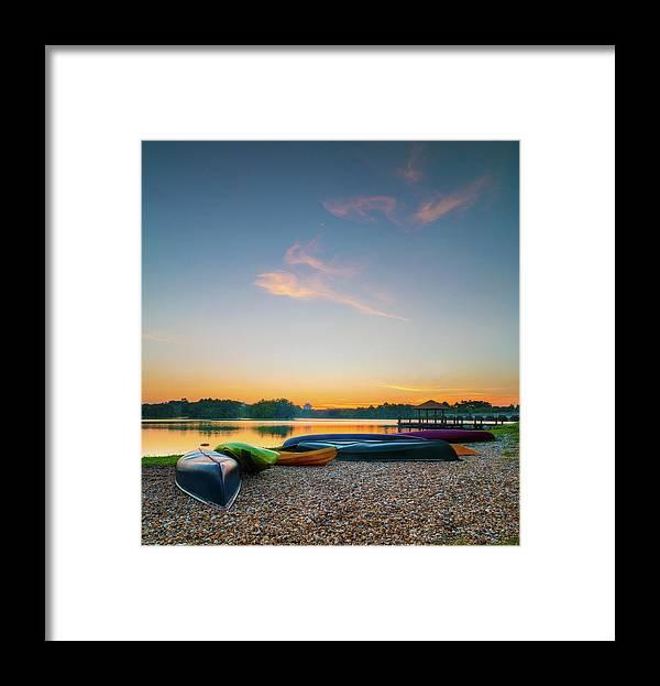 Tranquility Framed Print featuring the photograph Sunset At Kayak Putrajaya Lake by Muhammad Hafiz Bin Muhamad
