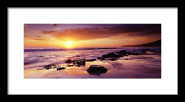 Scenics Framed Print featuring the photograph Sunset At Laguna Beach by Jason v