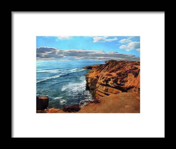 Sunset Cliffs Framed Print featuring the photograph Sunset Cliffs Morning by Cedric Hampton