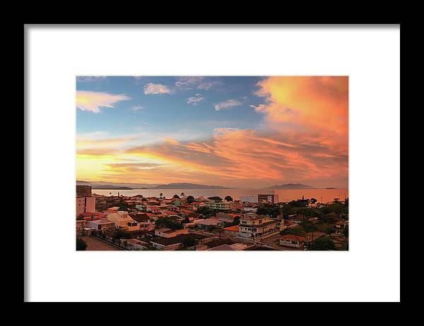 Tranquility Framed Print featuring the photograph Sunset Over Florianopolis by Dircinhasw