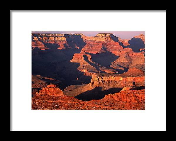 Toughness Framed Print featuring the photograph Sunset Over Grand Canyon by By Tiina Gill
