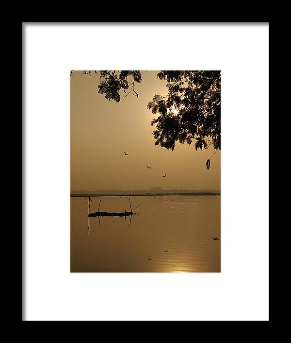 Sunset Framed Print featuring the photograph Sunset by Priya Hazra