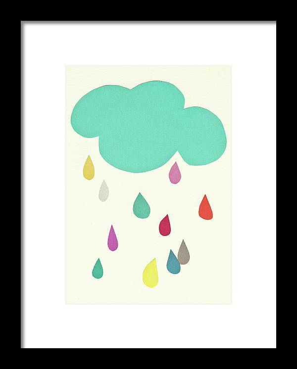 Clouds Framed Print featuring the mixed media Sunshine and Showers by Cassia Beck