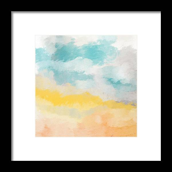Landscape Framed Print featuring the mixed media Sunshine Day- Art By Linda Woods by Linda Woods