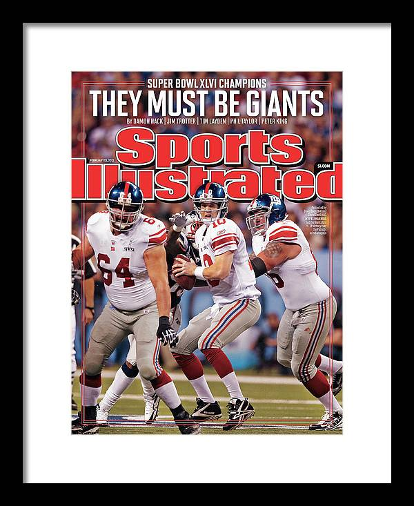 Magazine Cover Framed Print featuring the photograph Super Bowl Xlvi... Sports Illustrated Cover by Sports Illustrated