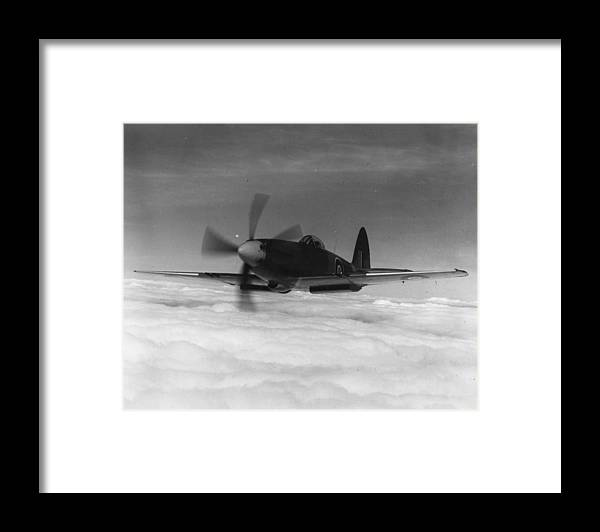 Military Airplane Framed Print featuring the photograph Supermarine Spiteful by Keystone
