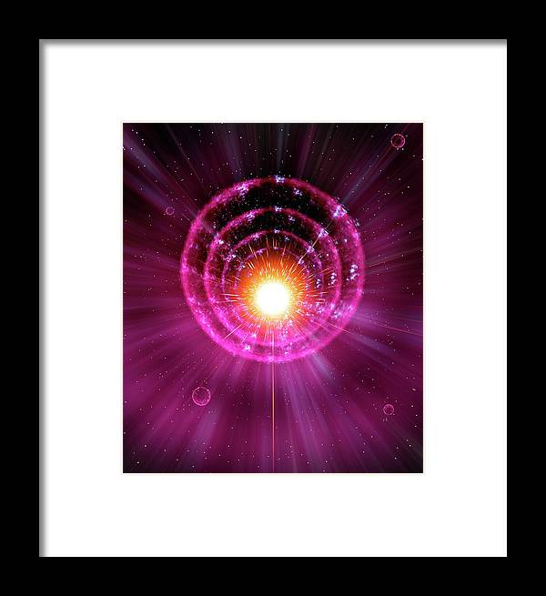 Majestic Framed Print featuring the digital art Supernova Explosion by Mehau Kulyk/spl