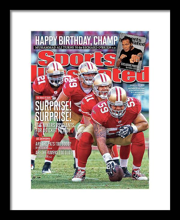 Candlestick Park Framed Print featuring the photograph Suprise! Suprise! It's Niners Vs. Giants For A Ticket To Indy by Sports Illustrated Cover