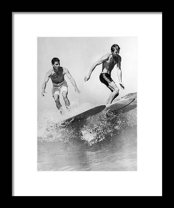 Australia Framed Print featuring the photograph Surf Board With Super-slick 1961 by Keystone-france