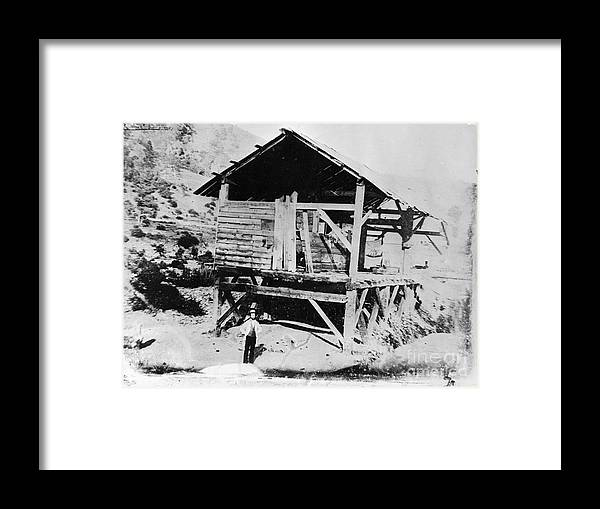 People Framed Print featuring the photograph Sutters Mill by Bettmann