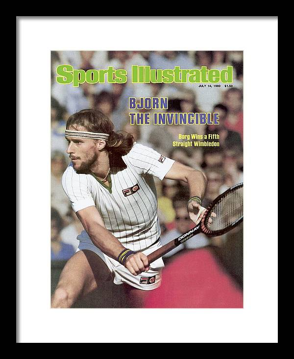 1980-1989 Framed Print featuring the photograph Sweden Bjorn Borg, 1980 Wimbledon Sports Illustrated Cover by Sports Illustrated