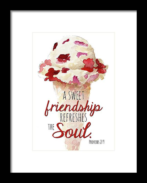 Sweet Framed Print featuring the painting Sweet Friendship by Lanie Loreth