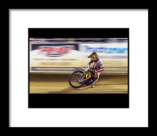 Motorcycle Framed Print featuring the photograph Sweet Spot by Mark MIller