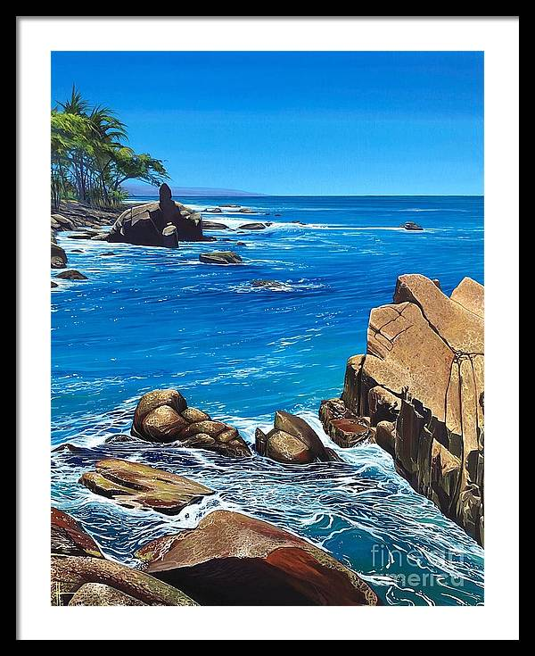 Puerto Vallarta Framed Print featuring the painting Swept Away by Hunter Jay