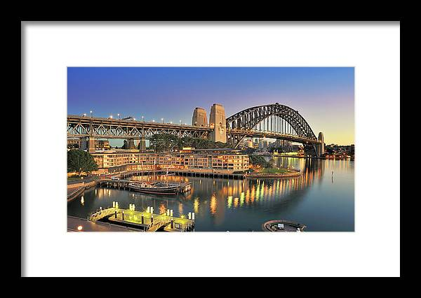 Built Structure Framed Print featuring the photograph Sydney Harbour Bridge by Warwick Kent