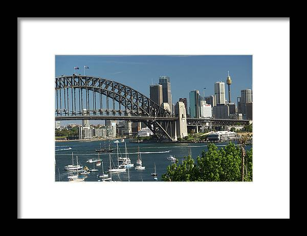 Sydney Harbor Bridge Framed Print featuring the photograph Sydney Harbour, New South Wales by Robin Smith
