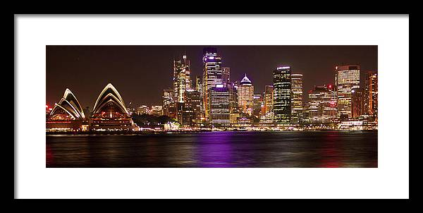 Panoramic Framed Print featuring the photograph Sydney In Bronze by Capturing The Beauty Around Us, One Chapter At A Time...