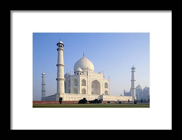 Scenics Framed Print featuring the photograph Taj Mahal, Agra, Uttar Pradesh, India by Frans Lemmens